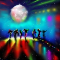 Disco dancing abstract