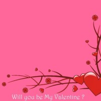 Will You Be My Valentine? Hearts & Flower Mod Design