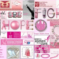 Breast Cancer Awareness collage