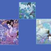Japanese Goddesses Collage