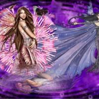 Pink Fairy w/ Purple Fairies