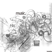 I Love Music Grey Art