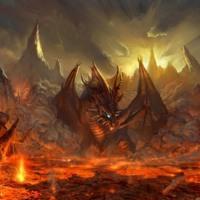 Dragon in Lava