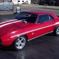 Red 1969 Camaro
