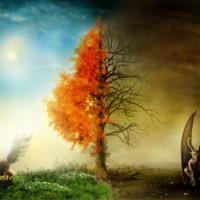 Flaming Tree & Demons