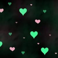 Pink & Mint Hearts