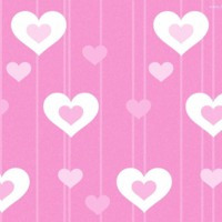 White & Pink Hearts & Stripes