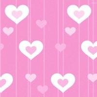 White & Pink Hearts & Stripes