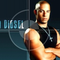 Vin Diesel on Teal Blue