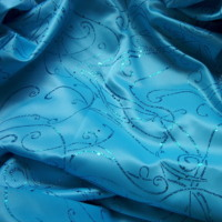 Blue Glitter Satin