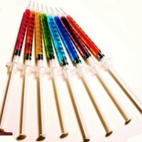 Rainbow needles