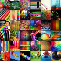 Rainbow Icon Tiles
