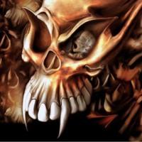 Brown demon Skull