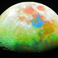 Colorful Moon