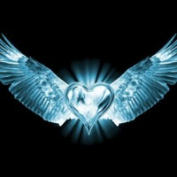 Blue Ice Winged Heart