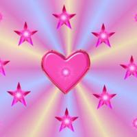 Pink Jewel Hearts & Stars