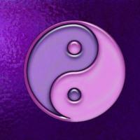 Purple & Lavender Yin & Yang