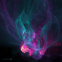 Purple, Pink & Teal Smoke Abstract