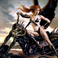 Skull Bike & Dark Angel