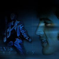 Elvis Presley in Blue