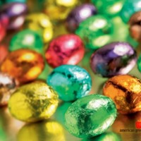 Colorful Foil Covered Easter Eggs