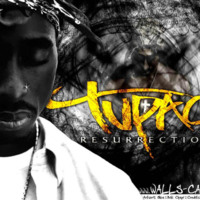 Tupac in Black & White w/ Yellow