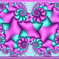 Aqua & Purple Kaleidoscope