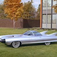 Silver Cadillac Cyclone