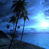 Blue Tropical Beach