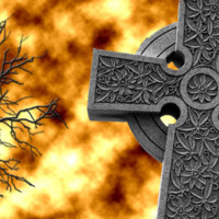 Celtic Cross in Flames