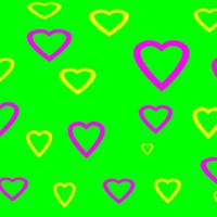 Yellow & Pink Hearts