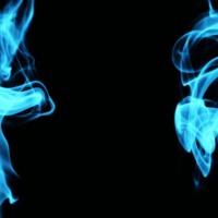 Aqua Blue Smoke