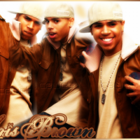 Chris Brown in Brown & White