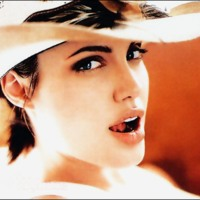 Angelina Jolie in Cowboy Hat