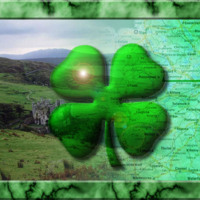 Four Leaf Clover & Irish Map