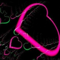 Neon green & pink hearts