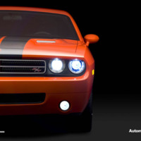 Orange & Black Dodge Challenger