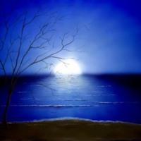 Moon Setting in Water