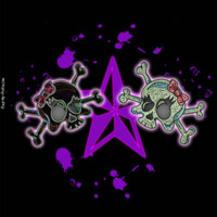 Girly Skulls & Purple Star