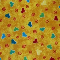Hearts & Swirls on Yellow