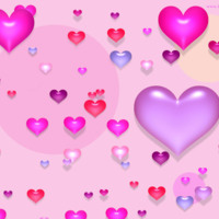 Pink.Purple.Red & Blue Hearts