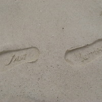 Just Married Footprints