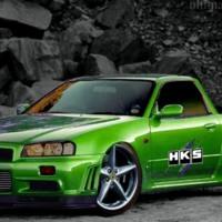 Green Skyline Truck