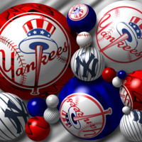 Yankees Logos in Red White & Blue