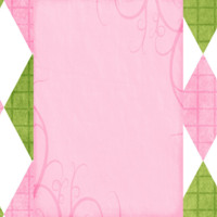 Pink, Green & White Argyle