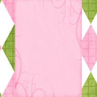Pink, Green & White Argyle