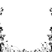 Black Floral on White