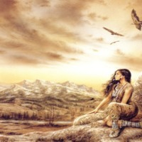 Talking with the Spirits Native American Woman