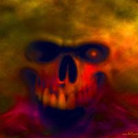 Angry Demon Skull