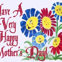 Happy Mothers Day Flower Painting